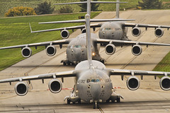 Conga Line (konrad_photography) Tags: plane virginia airport aircraft aviation military cargo roanoke va engines huge c17 globemaster usaf