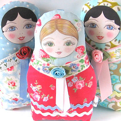 Matryoshka cloth doll  Anastasia (Zouzou Design) Tags: babushka matryoshka russiandoll clothdoll nestingdoll stackingdoll plushdoll fabricdoll softierussiandoll