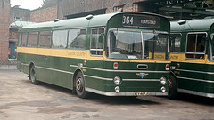SMW 9 St Albans Bus Garage rear forecourt August 1973 (national_bus_510) Tags: nbc surrey marshall stalbans aec nationalbuscompany londoncountry aecswift smwclass lcbs