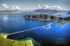 coast of norway (mariusz kluzniak) Tags: bridge west norway plane landscape islands coast norge europe view sony western alpha scandinavia fjords aalesund alesund 580 the4elements a580