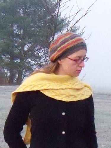 shawlette as a scarf