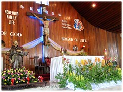 Beautifully decorated sanctuary at the Church of St Francis of Assisi in Cheras, Kajang