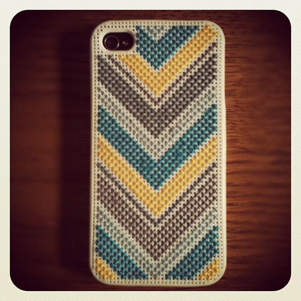 Cross stitch phone case.