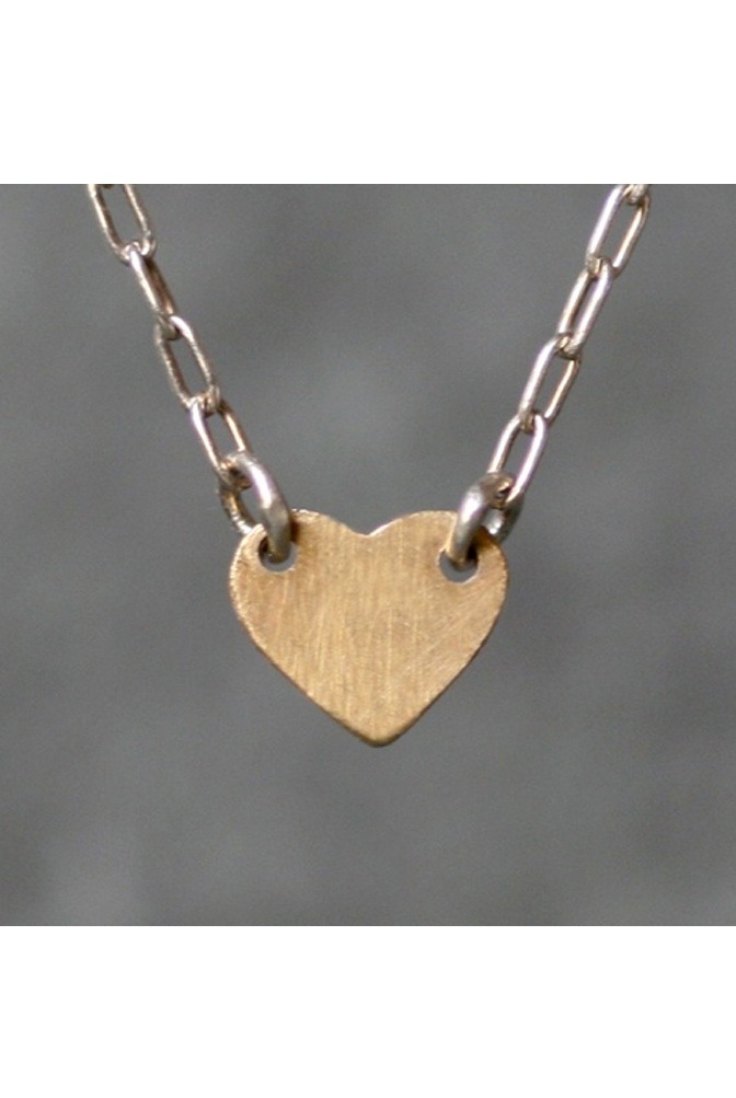 Flat Baby Heart Necklace