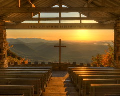 Fred W. Symmes Chapel - YMCA Camp Greenville, S.C. (VonShawn) Tags: mountains church sunrise landscape nikon worship cross southcarolina chapel hdr circularpolarizer photomatix tonemapped ymcacampgreenville prettyplacechapel nikond90 fredwsymmeschapel