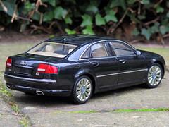 Audi A8 W12 limousine - rear angle (MartinHrDr) Tags: car model audi limousine w12 a8 118 schale diecast kyosho