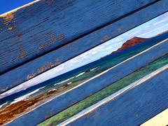 Espiando Lobos (aceele) Tags: españa azul mar spain fuerteventura canarias verano lobos canaryislands isla