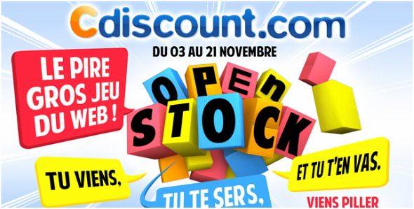 Jeu concours CDISCOUNT Open Stock