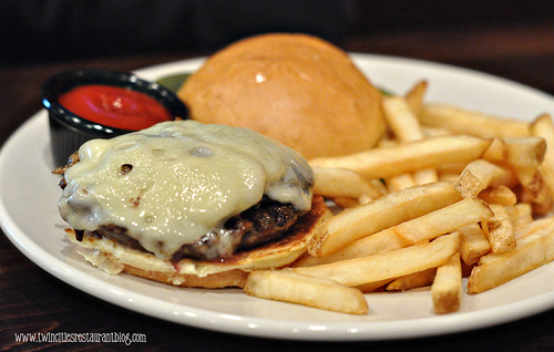 Mushroom Swiss Burger at Stout's Pub ~ Falcon Heights, MN
