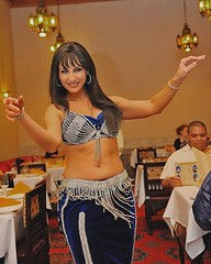 Restaurant Marrakesh Dancer (Scottwdw) Tags: travel vacation woman smile dinner restaurant co