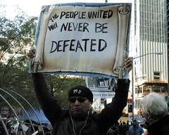 OWS Occupy Wall Street Movement, Zuccotti Park, New York City