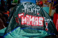OCCUPY WALL STREET • thomas' tent • 11/5/11