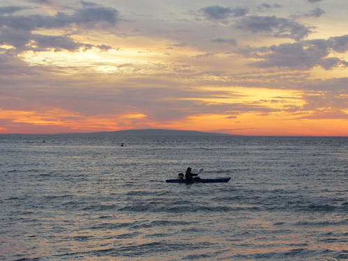 kayaker at dawn