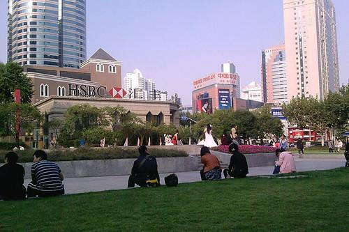 Little park next to Xujiahui