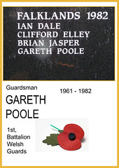 ROLL OF HONOUR GUARDSMAN GARETH POOLE (henrhyde (gill)) Tags: falklands sirgalahad welshguards