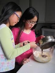 Making Fudge Brownies