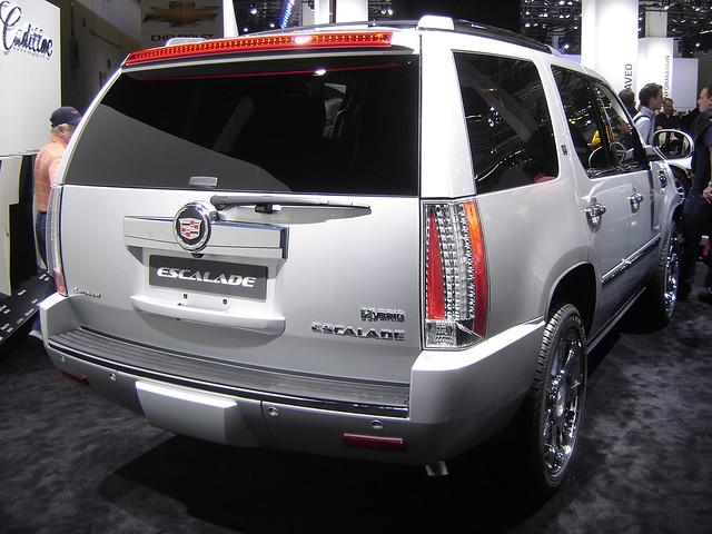 germany deutschland frankfurt cadillac hybrid carshow iaa escalade 2011 ecar