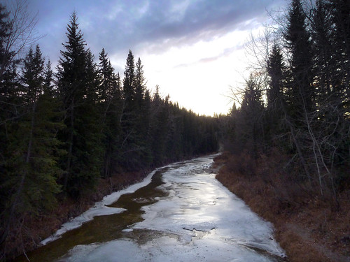 Ice on Fishcreek at 1900 km