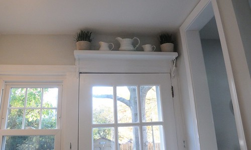 shelf over doorway