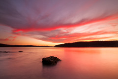 Shepherds Delight (< Nick Friend >) Tags: sunset sky water clouds rocks australia nsw centralcoast hawkesburyriver darkcorner patonga