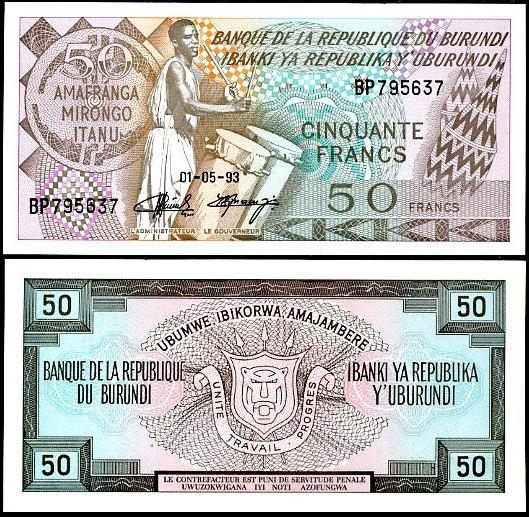 50 Frankov Burundi 1993, Pick 28c