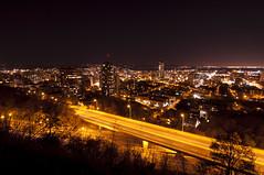 Hamilton at night (Haddadios) Tags: pictures ontario canada night lens landscape photography twilight nikon scenery angle hamilton wide tokina ultra f28 d90 1116mm