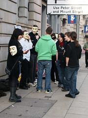 Manchester Anonymous 8-bit Raid 12/11/11 (n0vu2) Tags: manchester sp scientology cult anonymous churchofscientology dianetics deansgate lronhubbard xenu ot3 cientology thetans scilon tomcrusie suppressiveperson chanology scifags cultofscientology whyweprotest