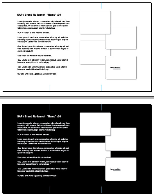 Storyboard Template Indesign Image Collections Template Design