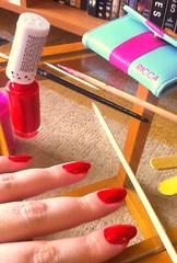 Passo 1 (Ariane Haselmann) Tags: glitter flor unha adesivo esmalte francesinha artística quadriculada