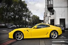 HandlingGTE - Explored (Lucian Bickerton) Tags: park uk england italy london beauty yellow hotel italian nikon low ferrari lane gb british canary nikkor rims sick mayfair supercar dorchester jwt 599 fiorano d90 f3556 18135mm hgte lucianbickerton lowslungsupercar
