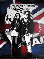 Will & Kate (duncan) Tags: graffiti princewilliam katemiddleton willandkate sidandnancy sidvicious punk punks royalty stencil stencils streetart southbank girl