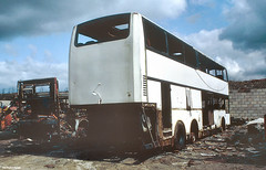 Ashes to ashes, rust to dust (Lady Wulfrun) Tags: bus buses carlton 1994 scrap coaches barnsley twm mcw metroliner 6721 wmt engineless noc721r unitless