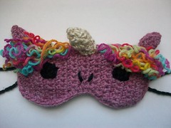 Sparkly sleep mask (Mooy) Tags: sleeping cute animal mask handmade sleep crochet sleepy pony kawaii etsy unicorn magical sleepmask mooeyandfriends