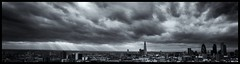 London Skyline from the East end (leeparker1968) Tags: panorama sunshine boom financialdistrict bust shard financial gherkin londoncity greyskies financialsector