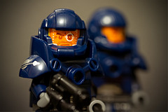Another Bug Hunt (bluemoose) Tags: blue macro marine lego bokeh series7 classicspace collectableminifigure
