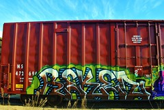Reken (nunya...nunyabusiness) Tags: art train graffiti paint ns graf tracks spraypaint boxcar reken