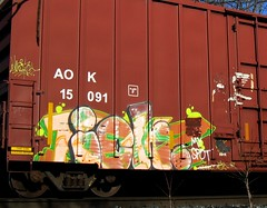 MY SPOT (YardJock) Tags: art train graffiti steel graf tracks railway yme boxcar freight rolling ichabod