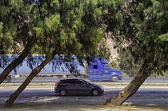 (BlackRockBacon) Tags: car truck pentax reststop freeway nik parked dslr k5 colorefexpro tamron1750 niksoftware dayblue