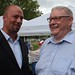 Councillor Farr and Graham Crawford (Hamilton HIStory+HERitage) share a laugh