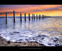 Moana Beach, Fleurieu Peninsula, South Australia :: HDR (Artie | Photography :: I'm a lazy boy :)) Tags: seascape beach water photoshop canon landscapes sand rocks tripod wave australia wideangle pebbles adelaide poles southaustralia ef 1740mm hdr moana artie cs3 fleurieupeninsula 3xp f4l photomatix tonemapping tonemap moanabeach 5dmarkii 5dm2