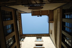 Up (Laura.1606) Tags: travel blue windows summer sky italy holiday architecture buildings august verona 2009