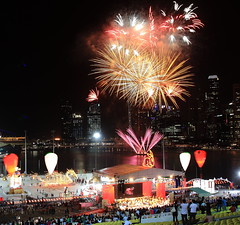Singapore Fireworks (Mel Mijares) Tags: marina canon fire bay flyer singapore shoot day zoom fireworks f1 parade national esplanade ndp helix sands merlion mbs skypark enterainment ndp2011 2011ndp