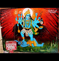 Kitsch Art - Goddess Kali (Midhun Manmadhan) Tags: india art painting temple kali goddess kitsch hyderabad hindu manmadhan midhun