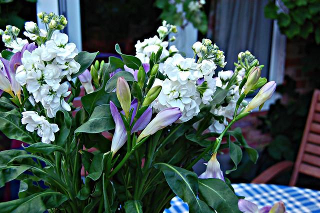Emily's bouquet present