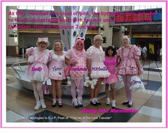 Pink Sissies at Secausus Junction_ (emily_sheldon) Tags: pink sissy njtransit sissies poofie secaucusjunction prideday2011