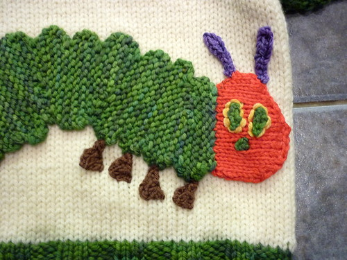 Roo Knits: The Very Hungry Caterpillar - in jumper form