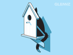 Perfect Plan (Glennz Tees) Tags: house bird art nerd fashion illustration cat design funny geek drawing humor cartoon tshirt illustrator draw popculture tee vector trap ai apparel adobeillustrator glenz glennjones glenjones glennz gleenz glennnz