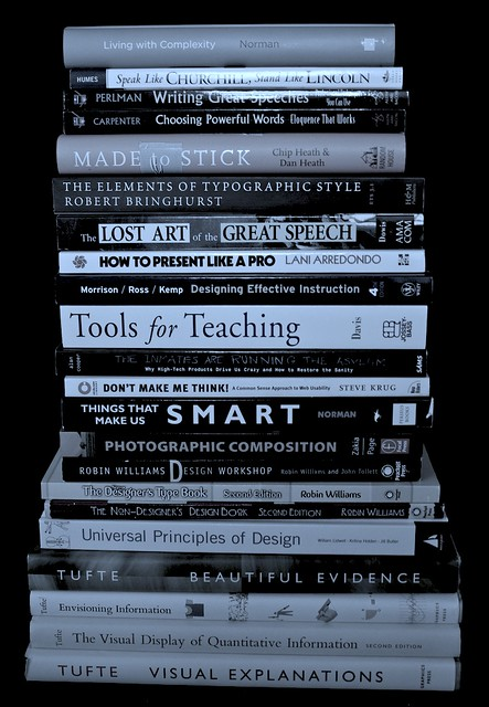 Some books I find heplful for teaching and presenting (Blog version)