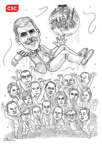 digital group caricatures of CSC - 4