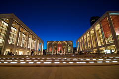Dusk at Lincoln Center (Will Boisture) Tags: city nyc newyorkcity sunset summer ny newyork evening twilight nikon dusk manhattan vibrant arts illuminated lincolncenter d7k d7000 nikond7000